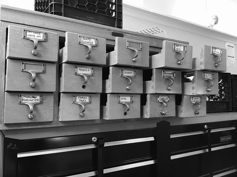 Photo of old card catalog